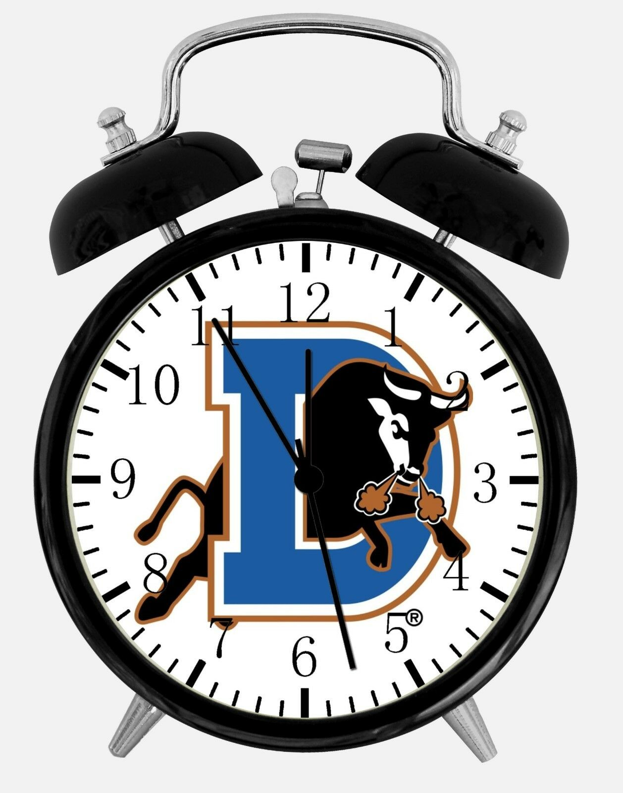 """Durham Bulls Alarm Desk Clock 3.75"""" Room Office Decor E305 Nice For Gift"""
