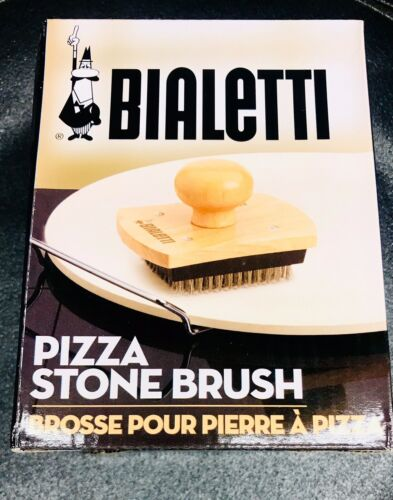 Bialetti Wooden Pizza Stone Cleaning Brush 07329 Stainless S
