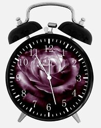 Dark Purple Rose Alarm Desk Clock 3.75 Home Office Decor Y108 Nice For Gift
