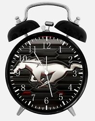 Mustang Alarm Desk Clock 3.75 Home or Office Decor Y61 Nice For Gift