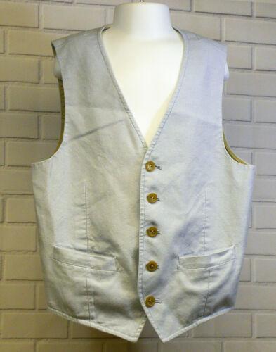 Crewcuts Thompson Boys Light Blue Denim Cotton Suit Vest Button Front Size 12