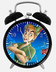Disney Peter Pan Alarm Desk Clock 3.75 Home or Office Decor Z177 Nice For Gift