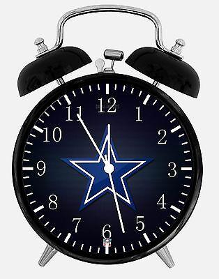 Dallas Cowboys Alarm Schreibtisch Uhr 9.5cm Heim oder Büro Dekor E132 Schön ()
