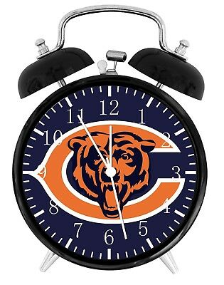 (  Chicago Bears Alarm Desk Clock Home or Office Decor F17 Nice Gift)