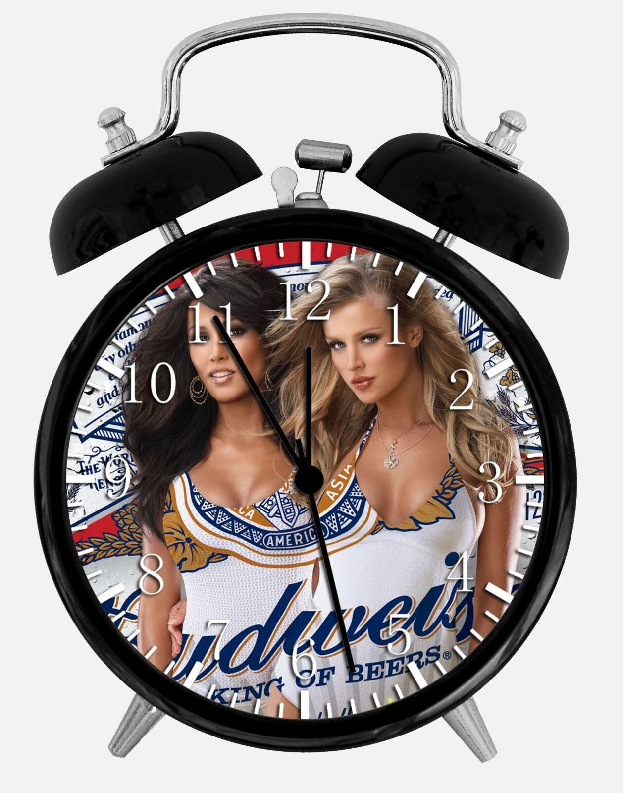 """Sexy Beer Girls Alarm Desk Clock 3.75"""" Home or Office Decor"""