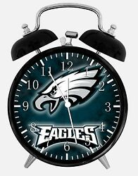 Philadelphia Eagles Alarm Desk Clock 3.75 Home or Office Decor E419 Nice Gift