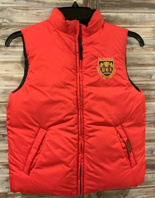 Polo Ralph Lauren 381 Bleeker Reversible Vest Red Navy Boys Girls Youth Size 7