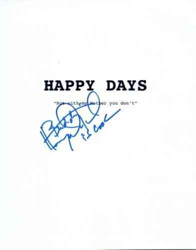 Henry Winkler Signed Autographed HAPPY DAYS Pilot Episode Script Cover VD