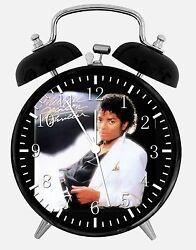 Michael Jackson Alarm Desk Clock 3.75 Home or Office Decor E384 Nice For Gift