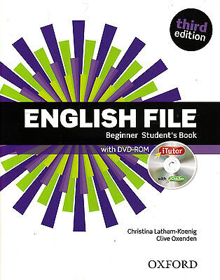 ENGLISH FILE Beginner Third Edition 2015 Student's Book with iTutor DVD-ROM @NEW
