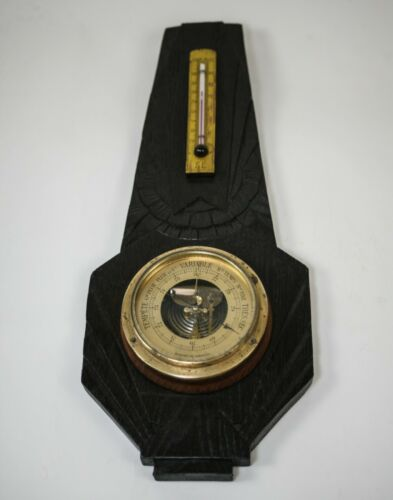 Antique art deco French aneroid barometer  scientific