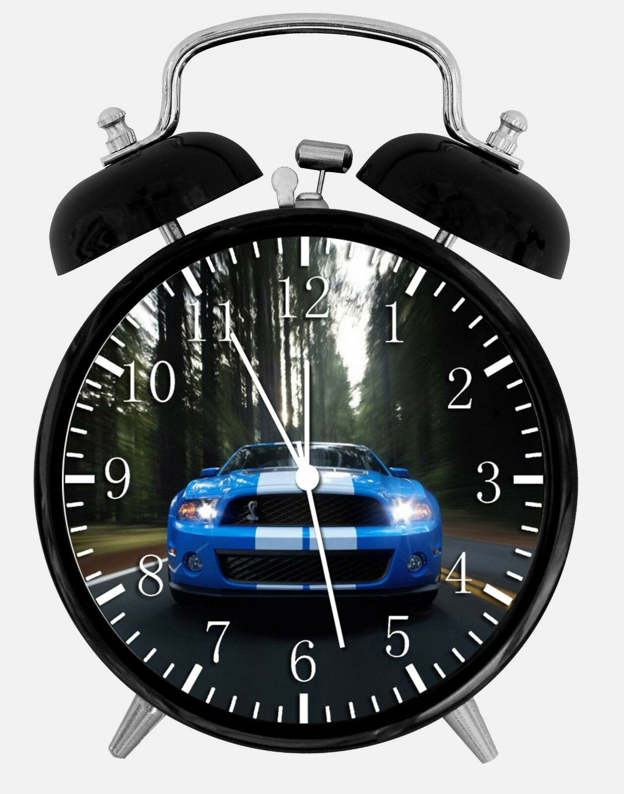 "Mustang Shelby GT Alarm Desk Clock 3.75"" Home or Office Decor W201 Nice For Gift"