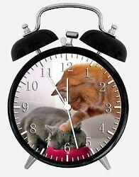 Cute Funny Cat Alarm Desk Clock 3.75 Room Office Decor E304 Nice For Gift