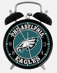Philadelphia Eagles Alarm Desk Clock 3.75 Home or Office Decor E437 Nice Gift