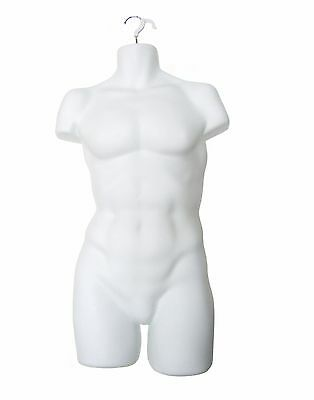 Hanging Male Mannequin Torso Form White Pack Of 2