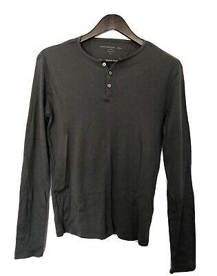 New Varvatos Men's Olive Green Long Sleeve Vest Shirt (S)
