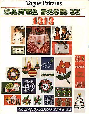 - Vogue Embroidery Crewel Transfer Pattern Christmas SANTA PACK II 1313 UNCUT