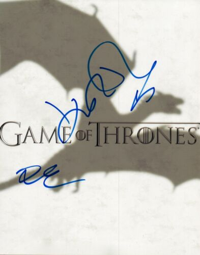 Game of Thrones Signed Autograph 8x10 Photo John Bradley Dean-Charles Chapman VD