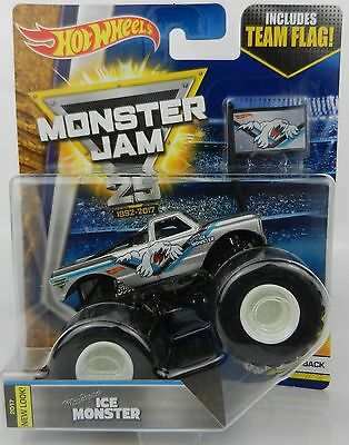 2017 Hot Wheels *MONSTER JAM 25* Michigan Ice Monster Chevy C10 Truck *NIP*