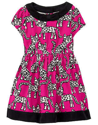 NWT Gymboree Tails of the City Leopard Corduroy Dress Baby Toddler Girl](Toddler Leopard Dress)