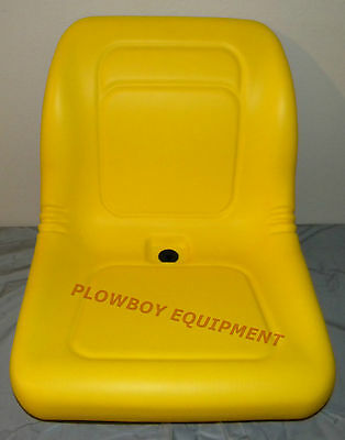 Yellow Vinyl High Back Seat For John Deere Z-track Ztr F620 F680 Lawn Mower