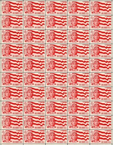 1962 - GIRL SCOUTS (GSUSA) - #1199 Fault-Free Mint NH Sheet of 50 Postage Stamps