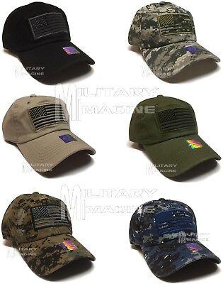 USA American Flag hat Tactical Operator Fashion Baseball cap Self Strap (American Flag Fashion)