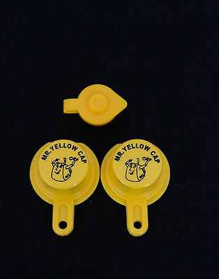 2x Blitz Yellow Spout Cap For Gas Can Spouts 900302 900092 900094 - Free Vent