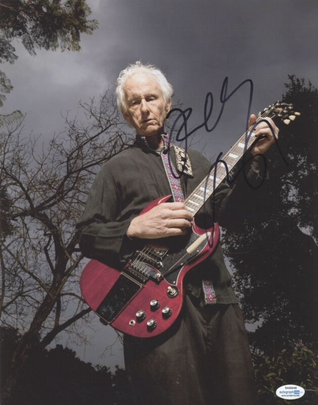 Robby Krieger Autographed Signed 11x14 Photo The Doors ACOA RACC #2
