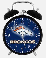 Denver Broncos Alarm Desk Clock 3.75 Home or Office Decor E94 Nice For Gift