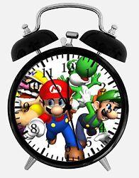 Super Mario Bros. Alarm Desk Clock 3.75 Room Office Decor W19 Nice For Gift