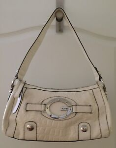 Purse-White-Leather-Guess