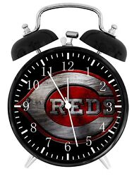 Cincinnati Reds Alarm Desk Clock Home or Office Decor F65 Nice Gift
