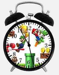 Super Mario Alarm Desk Clock 3.75 Room Office Decor X09 Will Be a Nice Gift