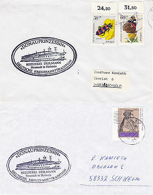 GERMAN DAY CRUISER MS DONAUPRINZESSIN 2 SHIPS CACHED COVERS