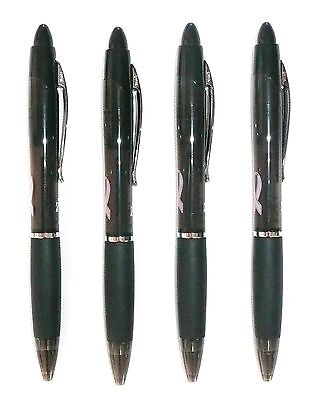 Lot Of 4 Zebra Z-grip Max Bold Breast Cancer Black Ball Point Pens 1.2 Mm New