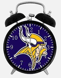 Minnesota Vikings Alarm Desk Clock 3.75 Home or Office Decor E435 Nice For Gift