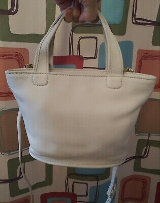 Vintage Coach #9301 White Leather Satchel/Crossbody/Shoulder Bag GREAT CONDITION
