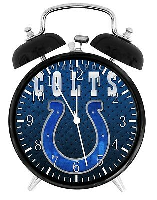 Indianapolis Colts Alarm Desk Clock Home or Office Decor F56 Nice Gift