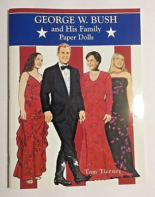 George W Bush and His Family Paper Dolls Laura President History 2001 UNCUT