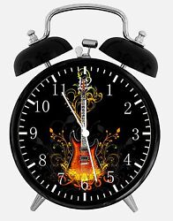 Guitar Alarm Desk Clock 3.75 Home or Office Decor W422 Nice For Gift