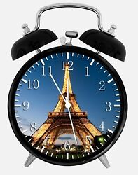 Eiffel Tower Alarm Desk Clock 3.75 Home or Office Decor W398 Nice For Gift