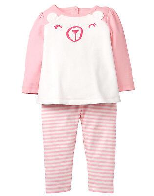 Polar Bear Outfit (NWT Gymboree Polar Bear Top Pants Outfit 2PC Baby Girl Newborn)