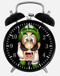 Luigi Super Mario Alarm Desk Clock 3.75 Home or Office Decor E380 Nice For Gift
