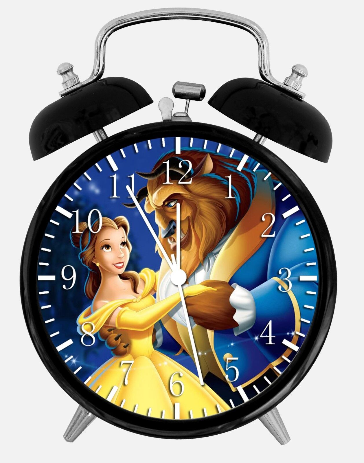 "Beauty and the Beast Alarm Desk Clock 3.75"" Home or Office Decor F04 Nice Gift"