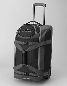 Eddie Bauer Rolling Commuter Duffel Bag Black NWT Traveller