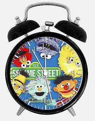 "Sesame Street Alarm Desk Clock 3.75"" Room Decor X08 Nice for Gifts wake up"