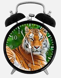 Beautiful Tiger Alarm Desk Clock 3.75 Home or Office Decor E358 Nice For Gift