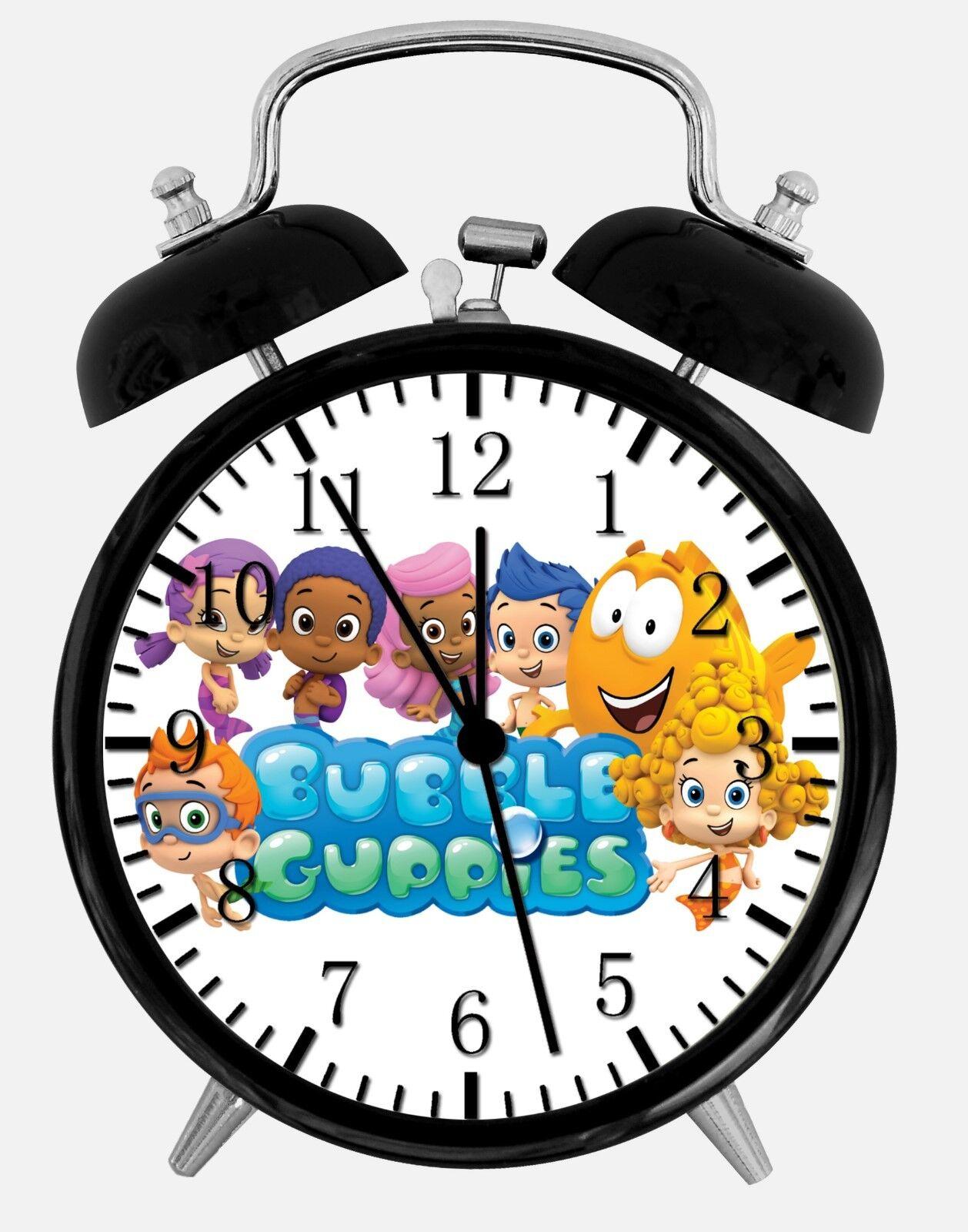 "Bubble Guppies Alarm Desk Clock 3.75"" Home or Office Decor E299 Nice For Gift"