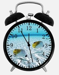 Tropical Ocean Fish Alarm Desk Clock 3.75 Room Office Decor Z73 Nice For Gift